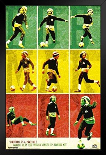 - Pyramid America Bob Marley Football Framed Poster 14x20 inch