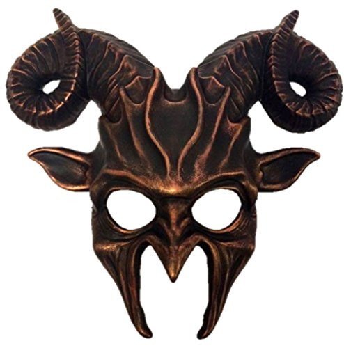 Faerynicethings Pagan Demon Goat Mask With Horns