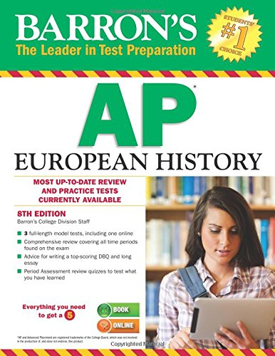 Barron's AP European History, 8th Edition cover
