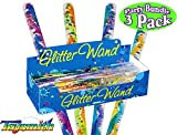 Toysmith Jumbo Spiral Glitter Wands (12.5 Inches) Gift Set Party Bundle - 3 Pack (Assorted)