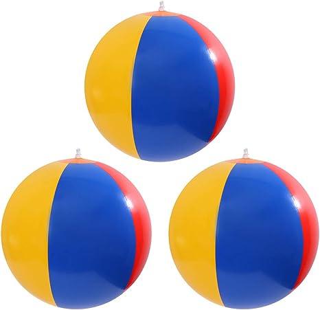 Toyvian Pelota de deporte coloreada arco iris inflable de las ...