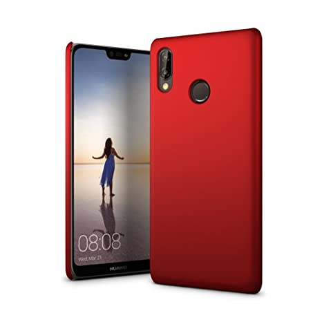 Amazon.com: SLEO Huawei P20 Lite Funda – goma rígida PC Back ...