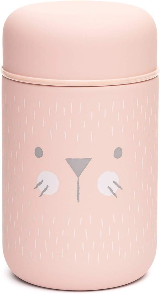 Suavinex - Termo Papillero Para Bebé. Acero Inoxidable. Cierre Hermético, 400ml Color Rosa