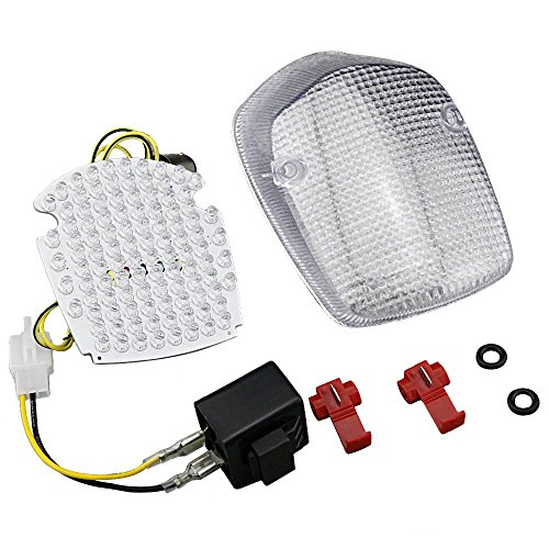 GZYF Fits SABRE/AERO 1100 /HONDA SHADOW ACE 750 LED Tail Light Turn Signals Lamp, Clear ()
