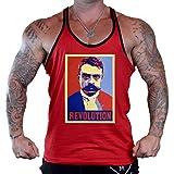 Emiliano Zapata Revolution Men's Red Stringer Tank Top