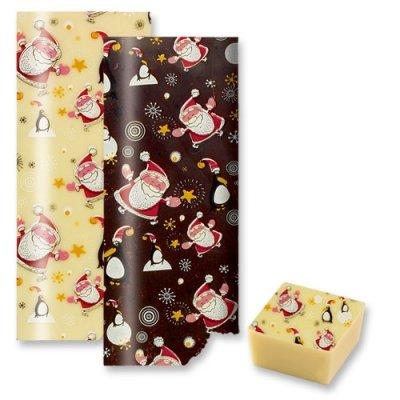 Christmas Santa And Penguin Chocolate Transfer Sheet Amazon