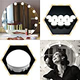 led dimmable light kit - SOLMORE Mirror Lights LED Vanity Mirror Lights Kit Hollywood Style Flexible 12 Dimmable LED Light Bulbs Lighting Fixture Strip for Makeup Table Set in Dressing Room with Dimmer and USB Power Supply