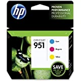 HP 951 Ink Cartridge, Cyan/Magenta/Yellow, 3-Pack (CR314FN)