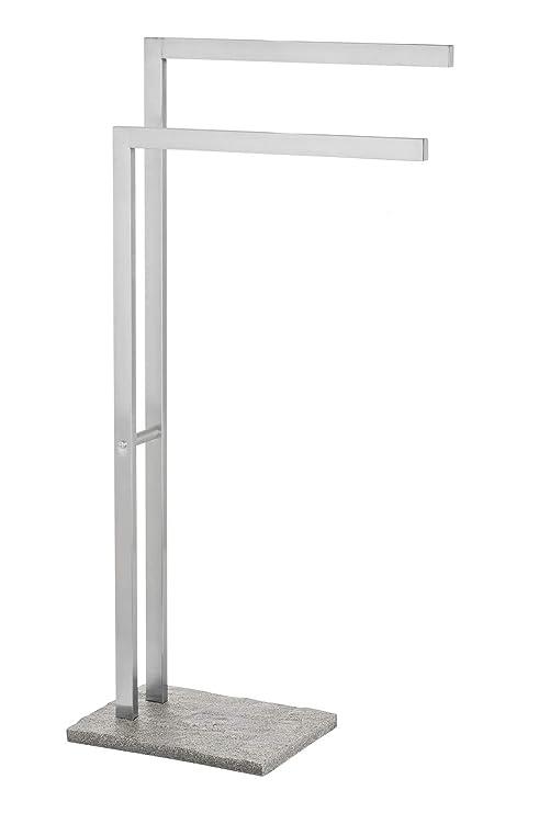 Wenko Toallero, Acero Inoxidable, Plata, 20x43.5x86.5 cm