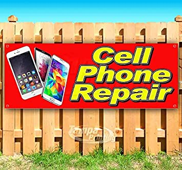WE FIX PHONES AND MUCH MORE Advertising Vinyl Banner Flag Sign Many Sizes