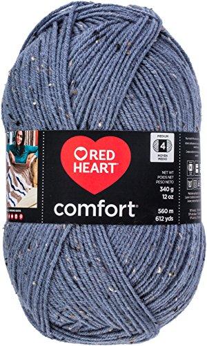 - Red Heart Comfort Yarn-Denim Fleck