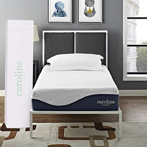 "Modway Caroline 10"" Cooling Air Gel Memory Mattress with CertiPUR-US Certified Foam, Twin, 0"