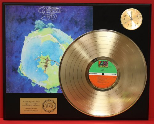 Yes LTD Edition 24Kt Gold LP Record & Clock Display Quality Collectible from Gold Record Outlet