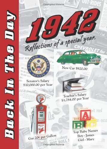 1942 Back In The Day Almanac -- 24-page Booklet / Greeting