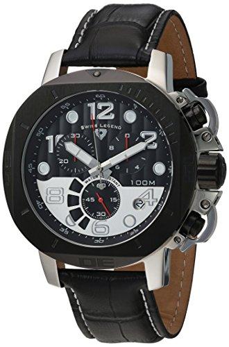Swiss Legend Men's 10538-01-BB-SP Scubador Collection Chronograph Black Leather Watch (Mens Swiss Chronograph Legend)