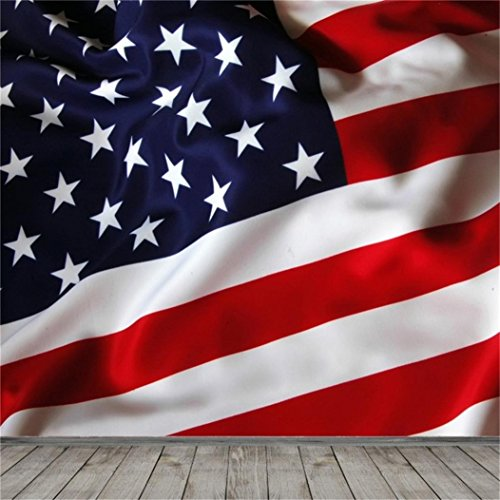 AOFOTO 5x5ft Patriotic American Flag Backdrop Independence Day Photography Background Stars And Strips Kid Baby Little Boy Girl Child Newborn Artistic Portrait Photoshoot Studio Props Vinyl Wallpaper