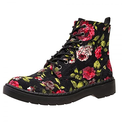Shoes amp; Floral Eye Women's T Boots 7 Black Lace Red u Ealing k PxfwwA4