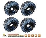 Rio Skid Steer Solid Tires & Rim x4 -No Flat 12x16.5 John Deere Volvo 33x12-20