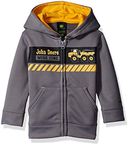 John Deere Boys' Work Zone Tech Fleece, Grey, 12 ()