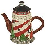 Nautical Lighthouse Ceramic Teapot