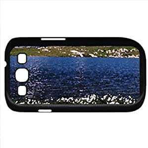 Lake and mountains (Lakes Series) Watercolor style - Case Cover For Samsung Galaxy S3 i9300 (Black)