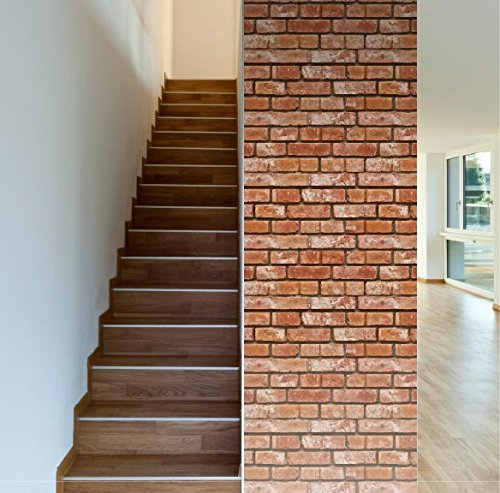 Removable Wallpaper - Realistic Bricks 8 ft Roll