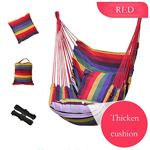 ZHAO YING Square Lace Hammock Chair Indoor Outdoor Terrace Deck Courtyard Garden Bar Cute Interior Supplies Children's Cradle Swing Chair with Handwoven Cotton Rope (Color : Rainbow Color) (Swing Interior Chair)