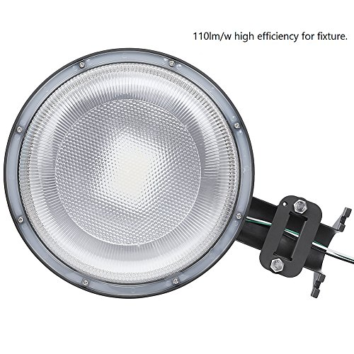 CINTON dusk to dawn led outdoor lighting, LED Barn Light, 58W Area Light Photocell Included, 5000K Daylight, 6400LM, Perfect Yard Light, DLC & ETL Listed, 550W Incandescent or 150W HID light Equivalen by CINOTON (Image #2)