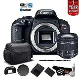 Canon EOS Rebel T7i Digital SLR Camera with 18-55mm Lens 1894C002 - Starter Bundle