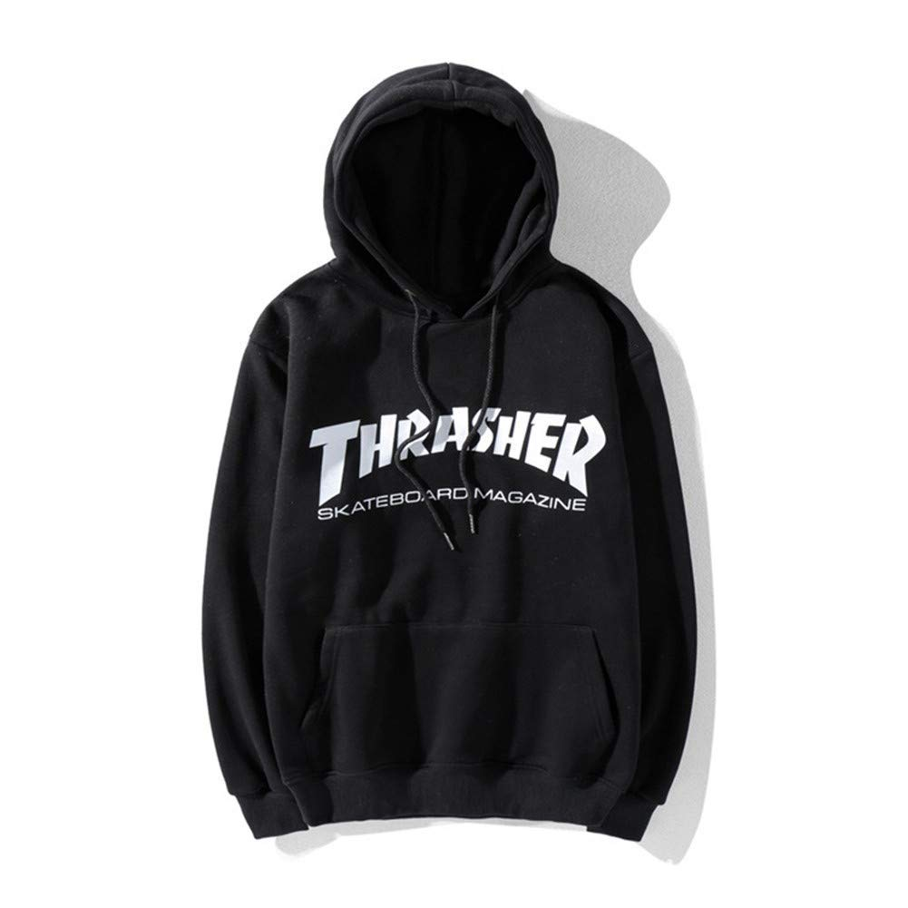 ed89f35746b6 Pingboo Fashion Thrasher Flame Casual Loose Hoodie Sweater Pullover  Men Women at Amazon Men s Clothing store