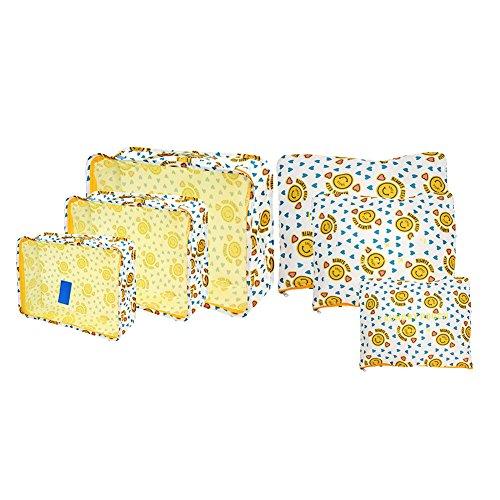 VT BigHome 6Pcs/Set Floral Print Travel Storage Bag Luggage Arrange Bag Comestic Makeup Storage Case Washing Pouch Cloth Organizer