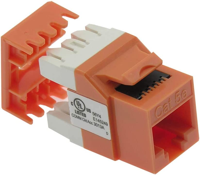 GOWOS Cat.5E RJ45 110 Type 180/° Keystone Jack Orange