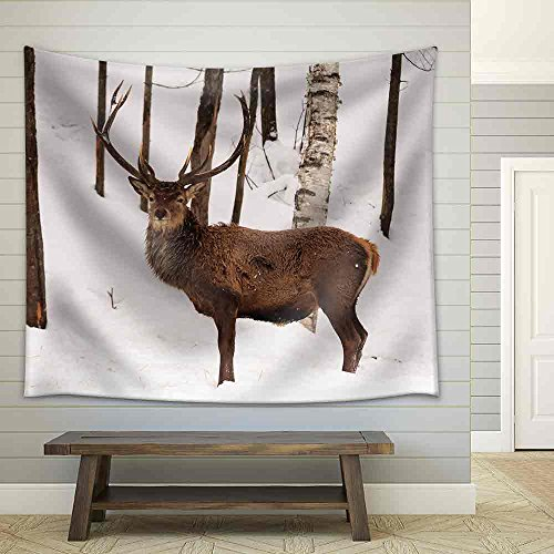Elk in The Woods Fabric Wall