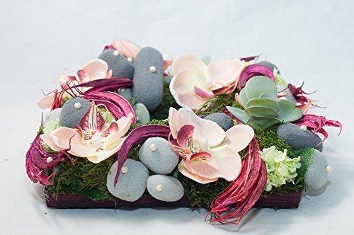 Tischgesteck Mit Lachsfarbenen Orchideen Tischdekoration Mit