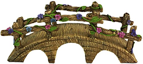 Twig & Flower The Magical Garden Fairy Bridge with Hand Painted Flowers & Vines by
