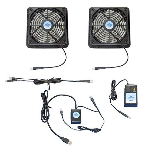 Plasma & LCD TV Vertical-Mount Cooling Fan System, with USB-Control & multispeed Fans ()