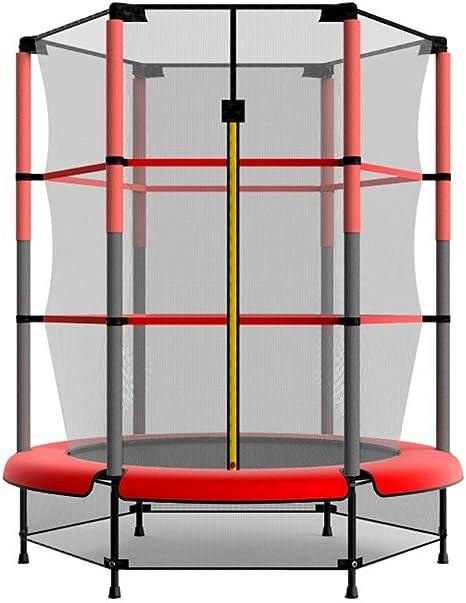 Trampolín para niños de 55 Inch con cerramiento de Red de Seguridad y Cubierta al Aire Libre en el jardín al Aire Libre, trampolín Sport Bounce Junior Edition: Amazon.es: Deportes y aire