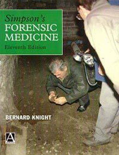 Simpson's Forensic Medicine, 11Ed