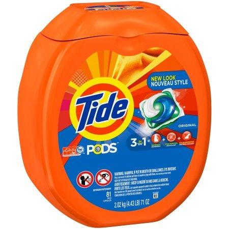 Tide Pods Laundry Detergent, Original Scent, 81 Ct, 71 Oz TEJ