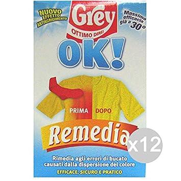 Juego 12 Grey remedia OK. Gr 200 Detergente Lavadora y ropa ...