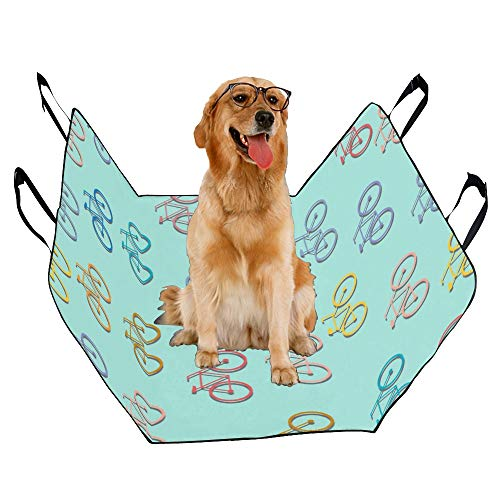 JTMOVING Fashion Oxford Pet Car Seat Cycling Sports Competition Art Style Waterproof Nonslip Canine Pet Dog Bed Hammock Convertible for Cars Trucks SUV