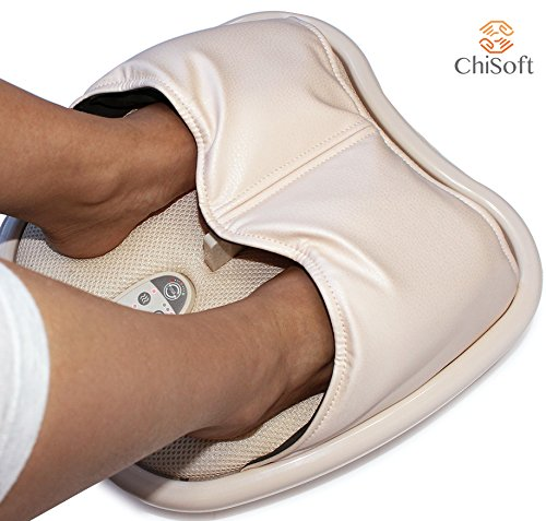 Heated Shiatsu Foot Massager - CHISOFT Air Compression Massager Machine for Plantar Fasciitis | Airbag Inflation Deep Pressure Feet Massage Therapy Device