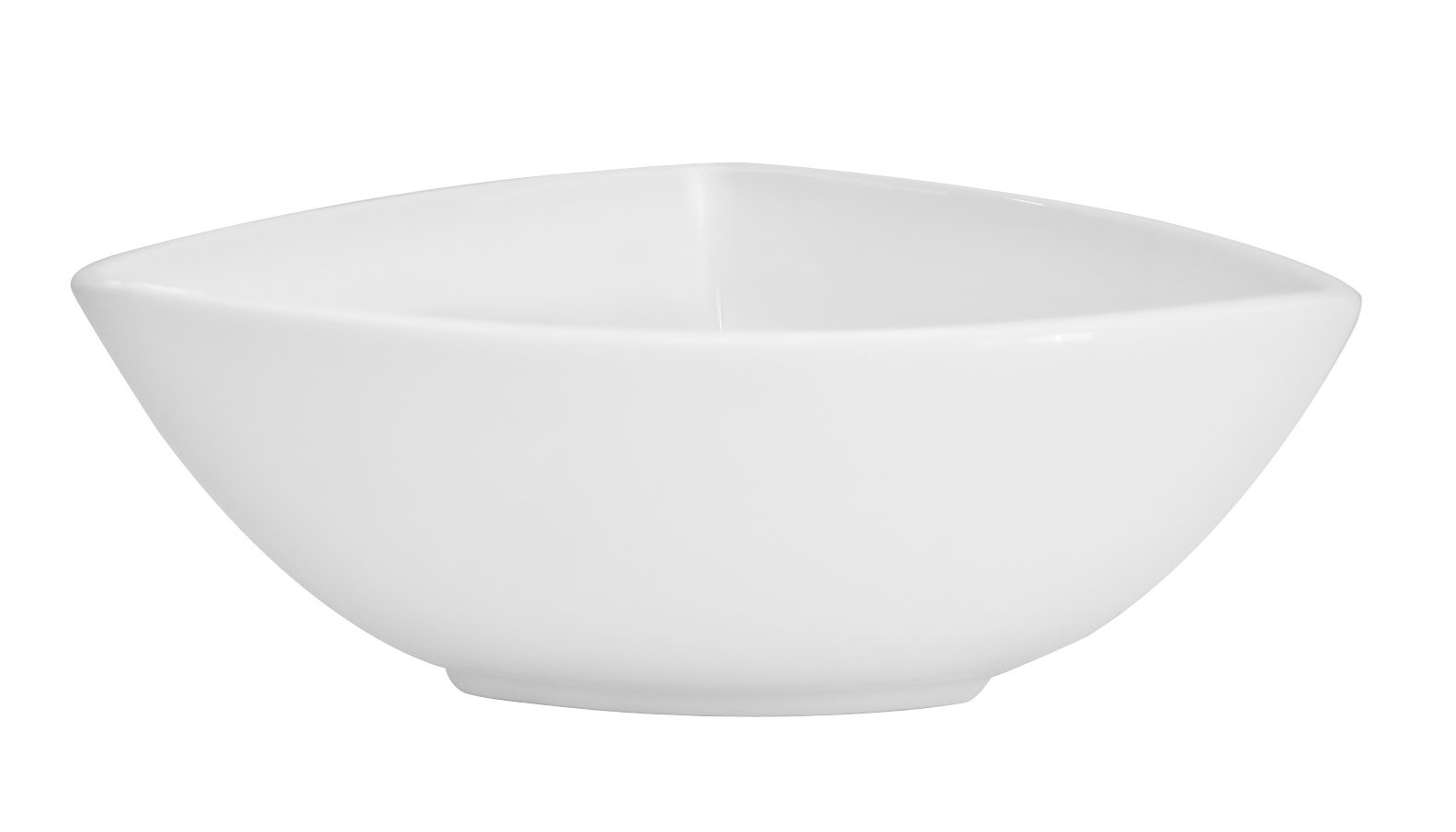 CAC China TUP-B9 Triumph 9-Inch 54-Ounce Super White Porcelain Triangular Bowl, Box of 12