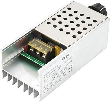 1x AC 220V 6000W Voltage Controller Regulator Safe Motor Speed Dimmer Thermostat