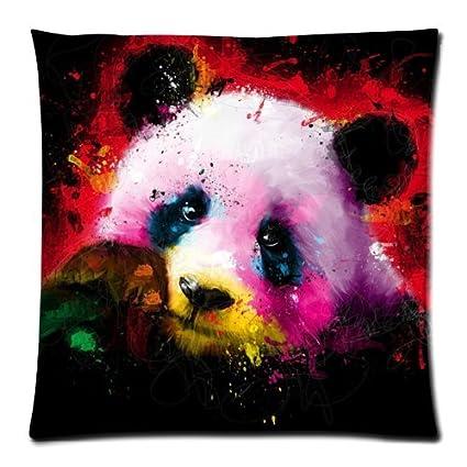 Amazon.com: Panda diseño de pintura de colores funda de ...