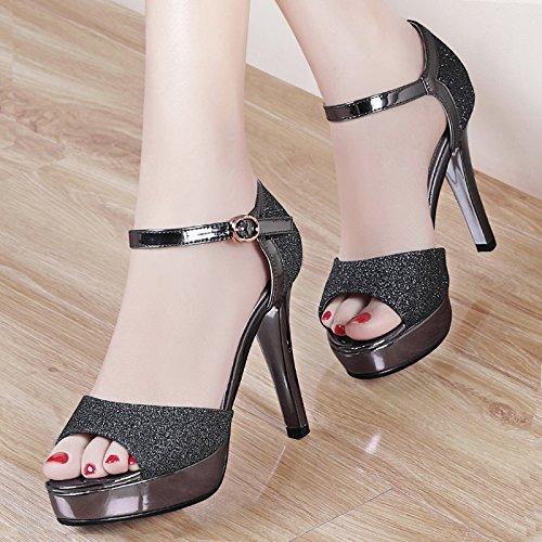 Poisson Haut Bouche SHOESHAOGE UK3 Sandales À La 5 EU36 Fines 138 Femmes Du Talon Avec Président Taïwan Tie Chaussures Crénelé RqFYSxw