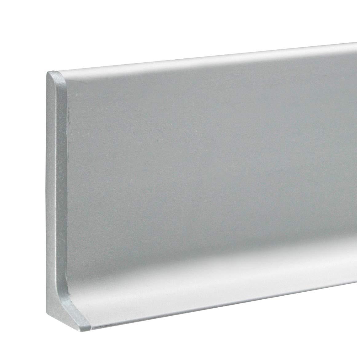 80 mm FUCHS Plinthe pi/èce de coin gauche aluminium Hauteur