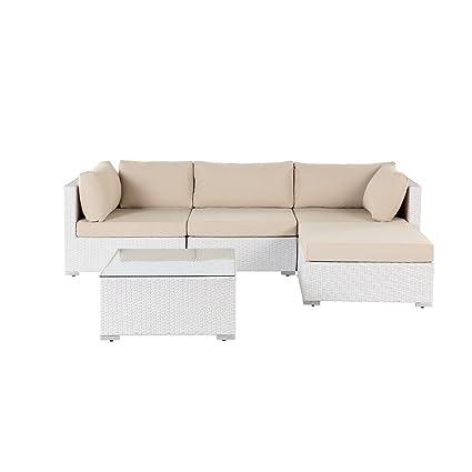 Attirant Velago 3 Piece White Wicker Sofa Set With Cushions