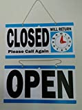 1 Set Foremost Popular Open Closed Hanging Sign Double Sided Store Notice Window Decal Size 6