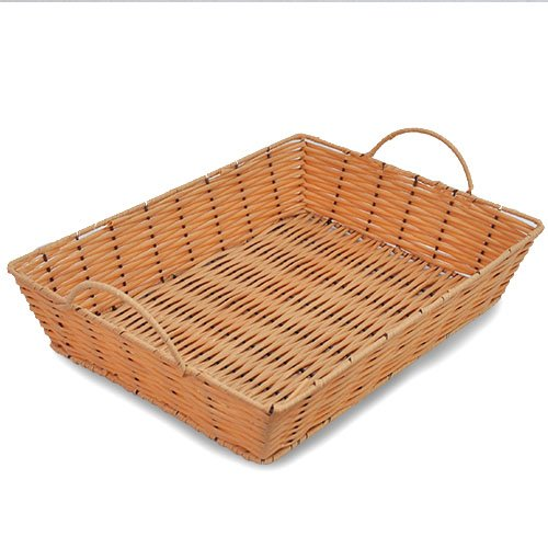 The Lucky Clover Trading Display Tray Basket, Synthetic Wicker by The Lucky Clover Trading